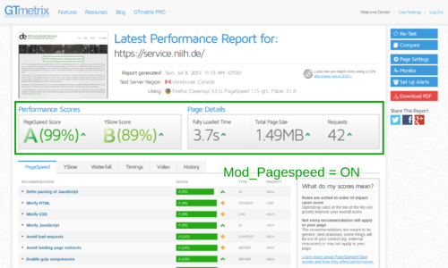 service.niih.de 99/89 score – Performance report from GTMetrix with caching and mod pagespeed enabled.png