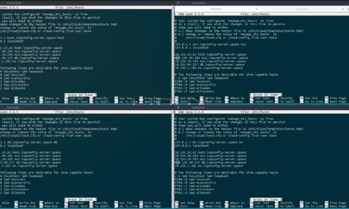 Server Domains in der Hosts Datei festlegen – Der perfekte ISPConfig Multi Server mit Webserver Mailserver Datenbank Server NS1 Server und NS2 Server